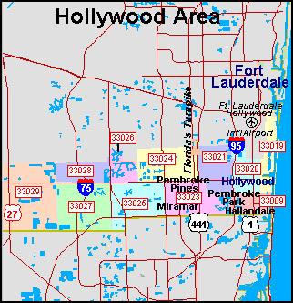 Hollywood Florida Zip Code Map Zip Code Map